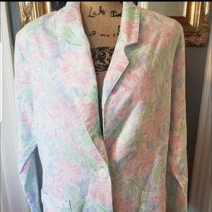 Vintage Girly Pastel Floral blazer shoulder pads